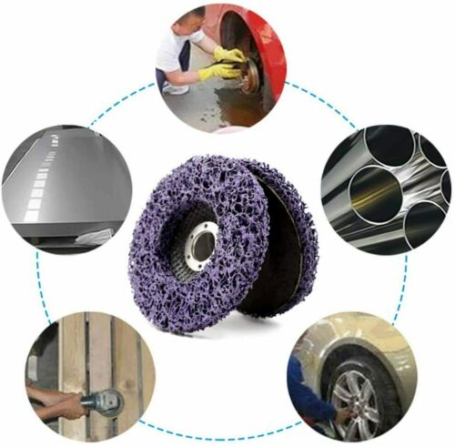 """100mm 4/"""" Poly Strip Disc Abrasive Wheel Paint Rust Removal For Angle Grinder Kit"""