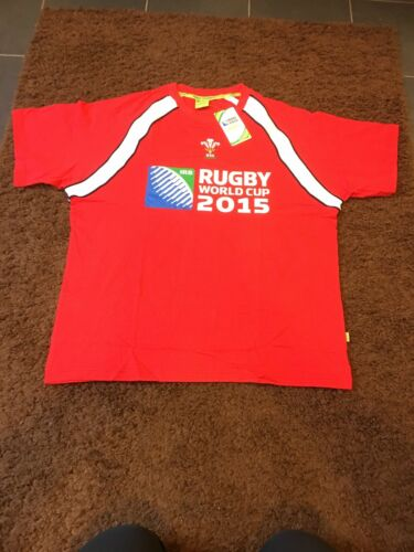 WALES 2015 WORLD CUP RUGBY COTTON T-SHIRT JERSEY TOP XXL BNWT