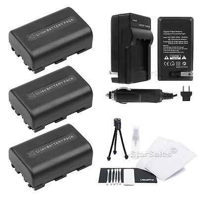 BC-VM10 Battery Charger for Sony NP-FM55H NPFM55H+Cap New