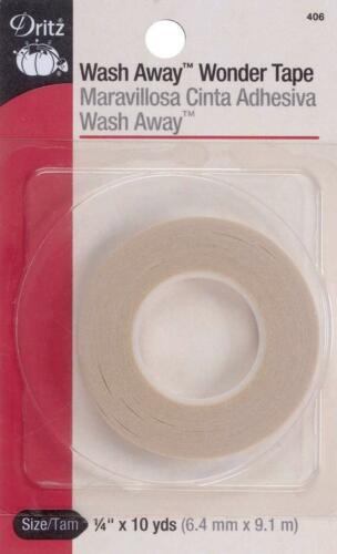 "Dritz 406 Wash Away Wonder Tape 1//4/""X10 Yards"