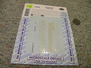 Decal Microscale Decal #87-932 New York Central Passenger Cars 1939-1968