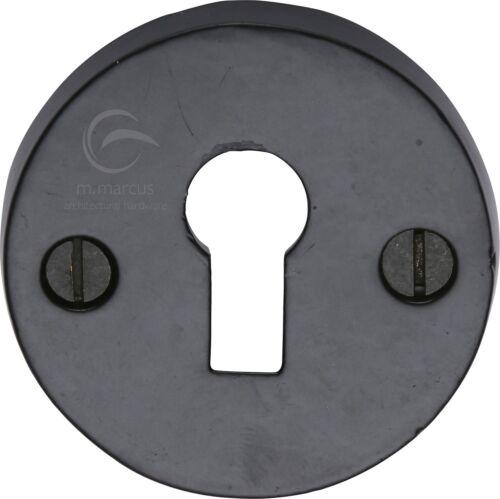Fer noir rustique ronde découvert écusson FB553 Key Hole Cover 45 mm
