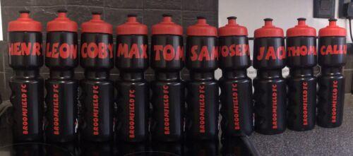 Personalised Football Team Water Bottle Stickers