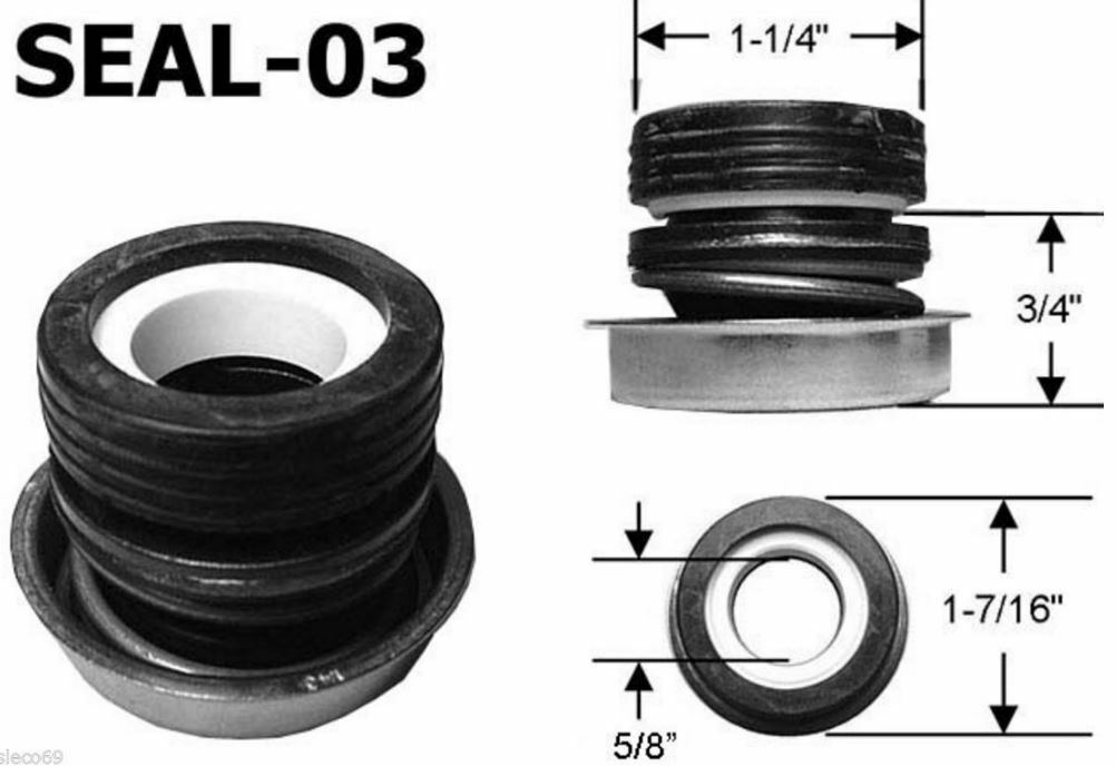 SPA PUMP SEAL assembly 5 8  reverse style SILICON CocheBIDE Highest quality PS1905