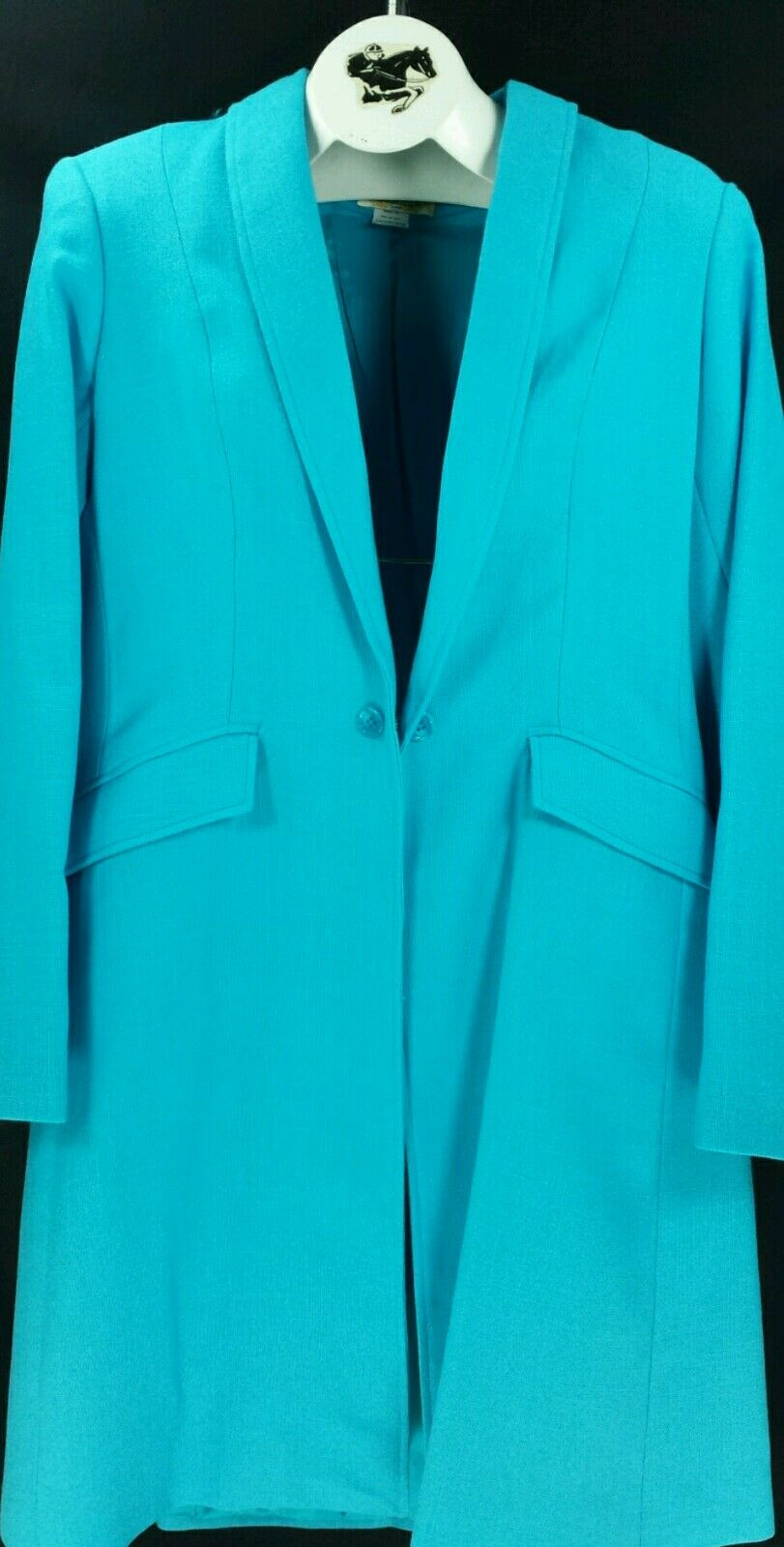 Reed Hill Ladies  Saddleseat Day Coat AQUA bluee Linen Poly   Blend size 20 - USA  up to 65% off