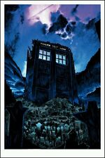 Tim Doyle Doctor Dr Who Fields of Trenzalore Oversized GID LE Movie Poster Print