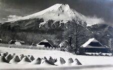 KOYO OKADA Original & Important Signed Japanese Gelatin Photograph of Mt. Fuji
