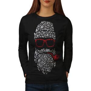 Wellcoda Santa Swag Cool Christmas Womens Long Sleeve T-shirt,  Casual Design