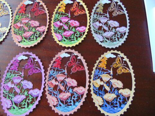 Tattered Lace Die Cuts Charisma Colourcut SUMMER SPLENDOUR poppy butterfly x10