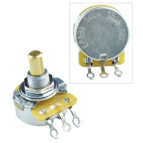 log CTS Solid Shaft Audio Taper 250k or 500k Potentiometer