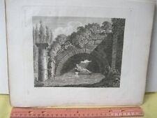 Vintage Print,DEDICATED TO NEPTUNE,Ideen Magzine,Garden Follies,1797