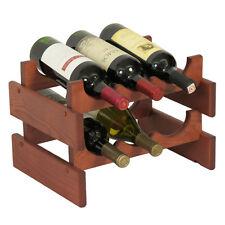"""Wooden Mallet 6 Bottle Dakota Wine Rack WR32MH Wine Rack 14"""" x 9.875"""" x 10.75"""""""
