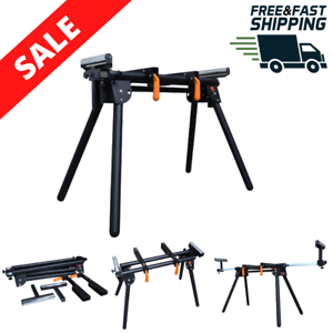 Capacity Universal Powdercoated Foldable Miter Saw Stand Sliding Arms 750 lb