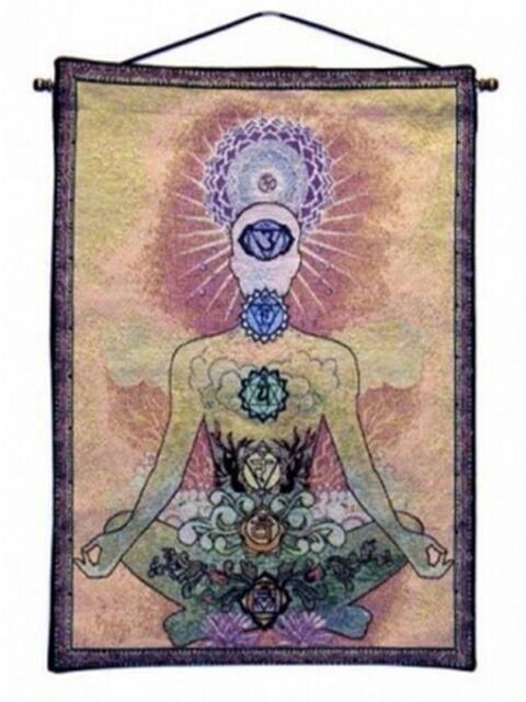 Wandbehang Meditation Wandteppich Kollektion - Yogi Chakras 45x65 cm