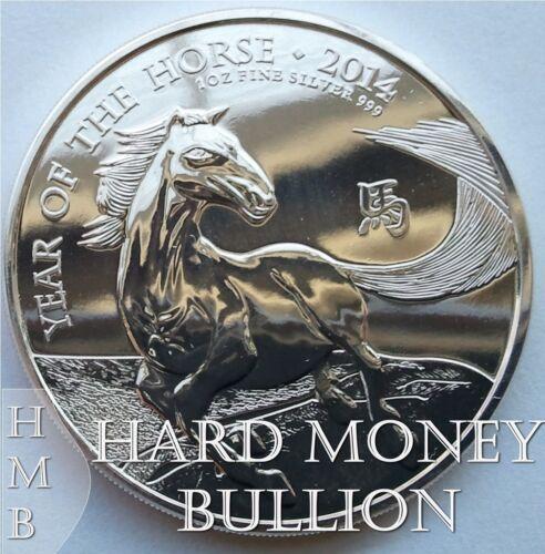 2014 1 oz BU Silver UK Great Britain Lunar Year of Horse British Mint Coin S146