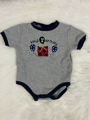 18 Months 1st Birthday Boy Shirt Baby Boy Clothes First Birthday Shirt Gray Ebay