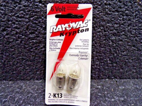 K 4 Ampoules Taille de Poche RAYOVAC K13 Krypton Ampoule Pour 6 V K13-2