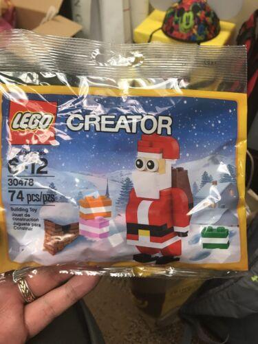 New Lego Creator Santa Clause Building Toy Set #30478 *Mint* 74 pcs