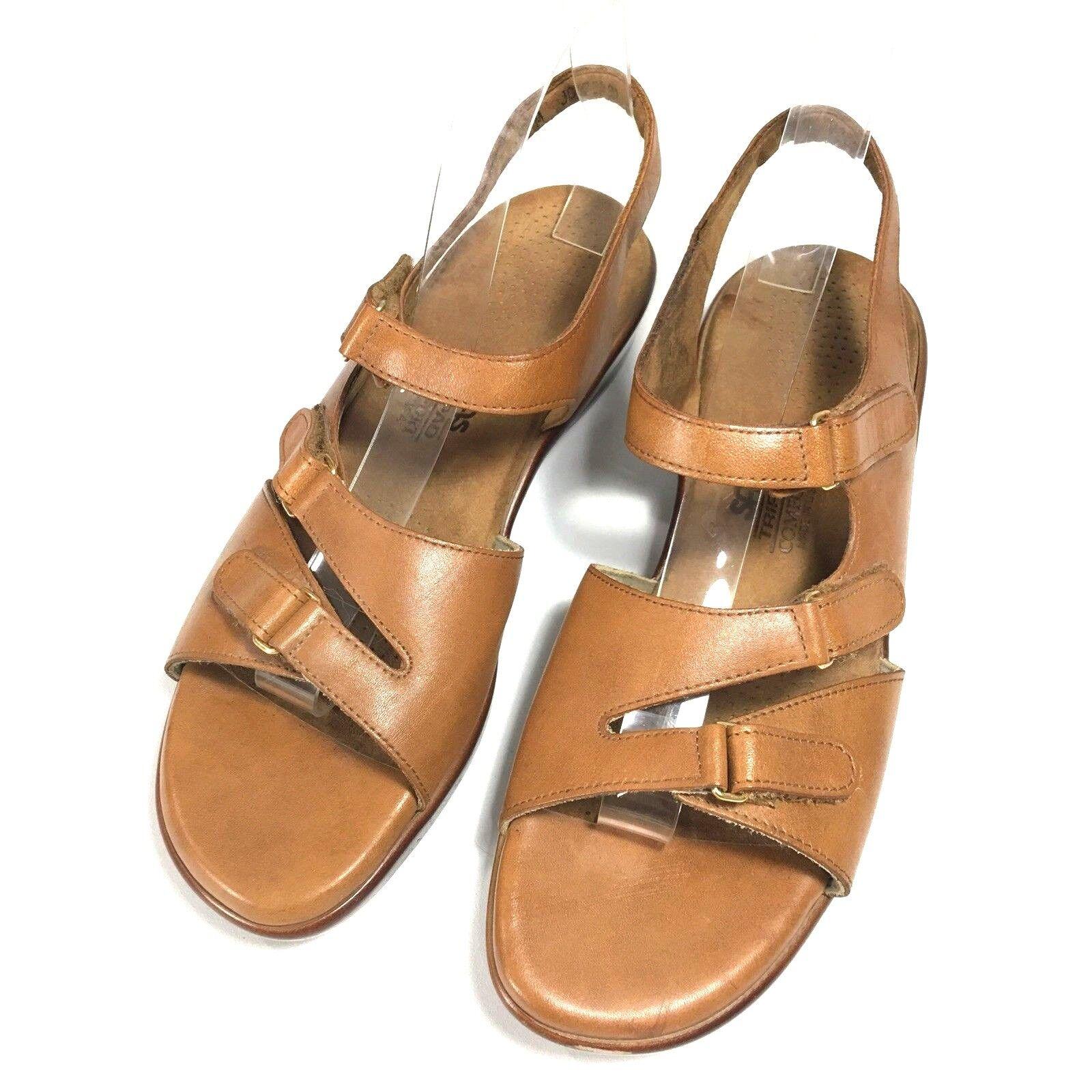 SAS Tripad Comfort Womens Tabby Caramel Brown Strappy Sandal US 10 M