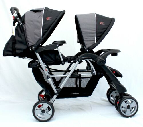 1 of 1 - Brand New Mamakiddies Tandem Stroller Pram Twin New Born Toddler Baby Jogger
