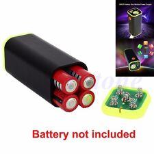 4x18650 Battery Storage Case Box Holder USB For Bike Samsung w/LED Light