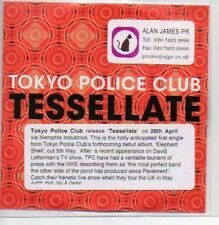 (188A) Tokyo Police Club, Tessellate - DJ CD