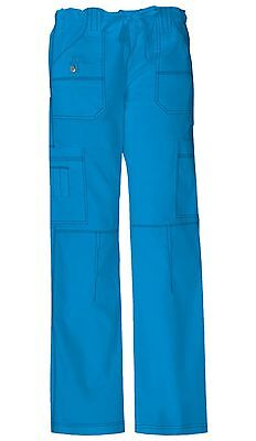 Fit Dickies Scrubs Petite Drawstring Cargo Pant 857455P Galaxy Blue Dickies Jr