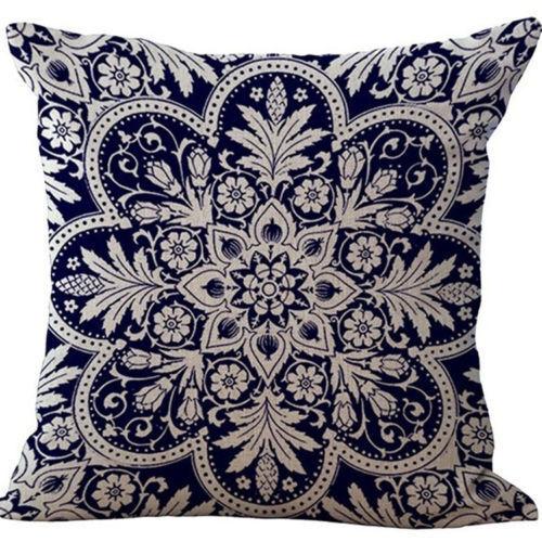 Fashion Vintage Soft Linen Pillow Case Sofa Waist Throw Cushion Cover Home Decor