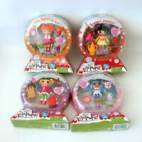Mini Lalaloopsy 4 Dolls Snowy Fairest Bea Mittens Holly Series 10 Snow Globe