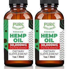 Hemp Oil 30,000mg   Organic   Discover the Benefits of Hemp Seed Oil (2-Pack)
