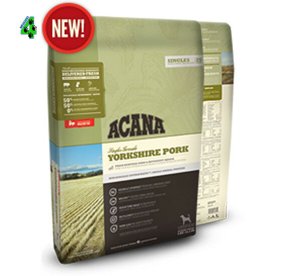 2 SAC   Acana Dog Yorkshire Pork 11,4 kg  Dry Singles