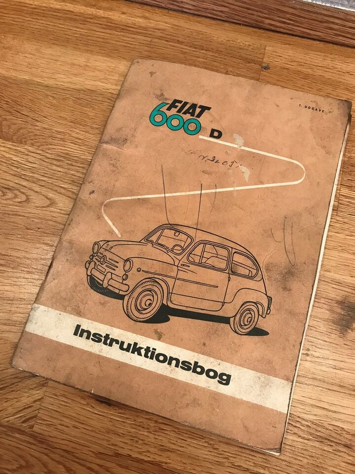 Andre reservedele, Indtruktionsbog, Fiat 600d