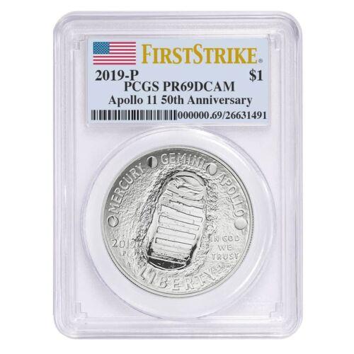 2019 P Apollo 11 50th Anniversary Proof Silver Dollar Comm PCGS PF 69 FS