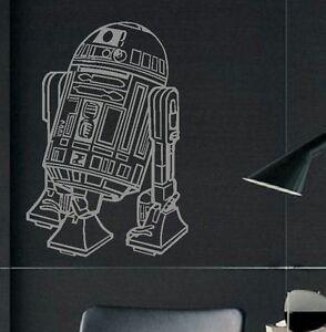 large star wars r2d2 childrens bedroom wall art mural sticker