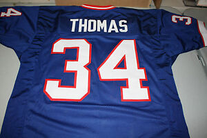 big sale bf610 e60fe Details about THURMAN THOMAS #34 SEWN STITCHED THROWBACK HOME JERSEY SIZE  XLG