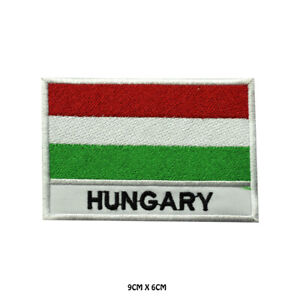 Hungary National Flag Embroidered Patch Iron on Sew On Badge For Clothe etc