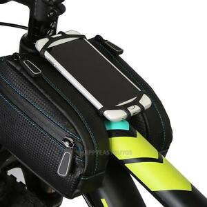 ROSWHEEL Bicycle Smart Phone Bag MTB Road Bike Cycling Frame Tube Basket Pannier