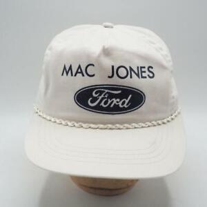 Analytique Vintage Mac Jones Ford Réglable Camionneur Fermier Casquette Chapeau PréVenir Et GuéRir Les Maladies