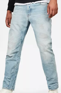 G-Star Raw Arc 3d Relaxed Tapered Light Wash Jeans Herren 28w 32l * ref78-3