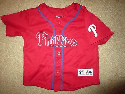 Fanartikel Chase Utley #26 Philadelphia Phillies Mlb Majestätisch Trikot Kleinkind 3t Billigverkauf 50% Weitere Ballsportarten