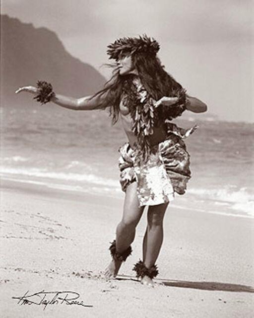 "Kim Taylor Reece ""Kakahi"" 11 X 14 Double Matted Hawaiian Hula Print - New"