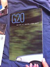 1991 Nissan Infinity G20 USA Market Color Brochure Catalog Prospekt