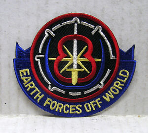 """Babylon 5 Earth Forces Off World 3"""" TV Costume/Uniform Patch- FREE S (B5PA-11)"""