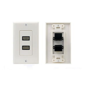 Hdmi Dual 2 Port Wall Plate Outlet Cover For Hdtv 1080p Ebay