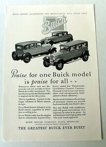1927-BUICK-GENERAL-MOTORS-AUTOMOBILE-CAR-AD-ADVERTISEMENT-VINTAGE-COUPE-SEDAN-xc