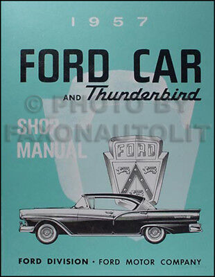 1957 Ford Shop Manual and Transmission Repair CD 57 Fairlane Thunderbird Custom