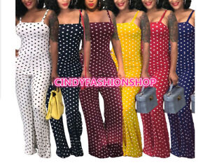 Usa Women African Sleeveless Dashiki Sexy Print Dot Casual Romper Jumpsuit Jj8 Ebay