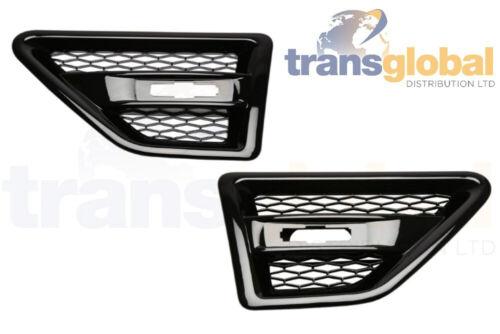 Front LH RH Noir Grill aile ventilation pour Land Rover Freelander 2 Bearmach
