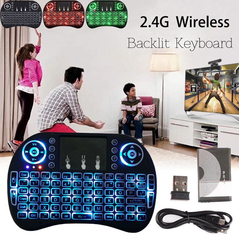 Backlit Wireless Touchpad MINI Keyboard Air Mouse For PC Pad