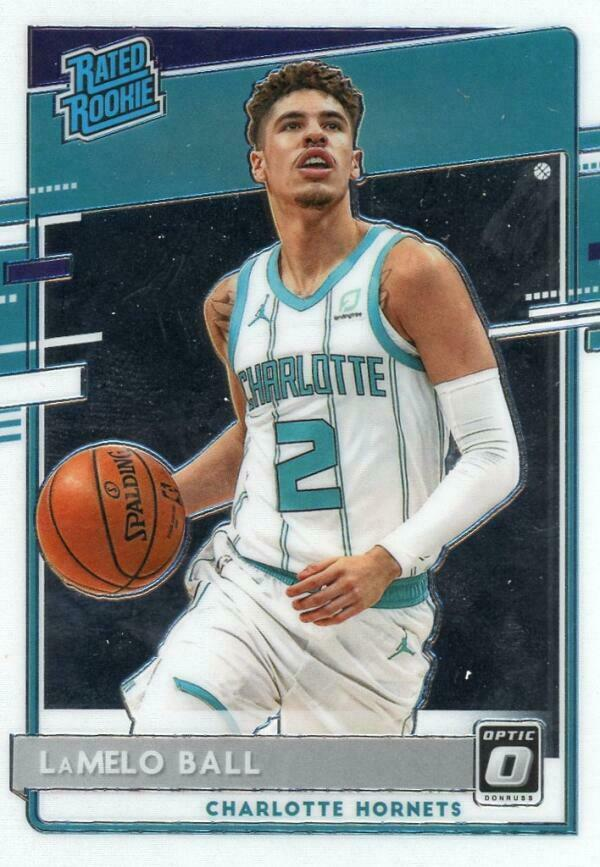 Image 1 - 2020-21 DONRUSS OPTIC #153 LAMELO BALL RATED ROOKIES RC HORNETS